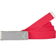 NEW PUMA WOMEN PATH WEB GOLF BELT ROSE RED ONE SIZE FITS ALL