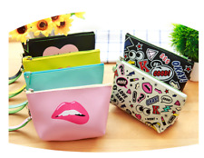 Pu Toiletry Cosmetic Makeup Bag Pen Pencil Stationery Case Zipper Pouch Box