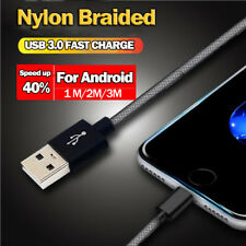 Micro USB Cable for Samsung/Huawei, Fast Charging 3.0 USB Data Cable for Android