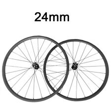 Bike Bicycle Disc Brake Carbon Wheels 24mm Carbon Clincher Cyclocross Wheelset