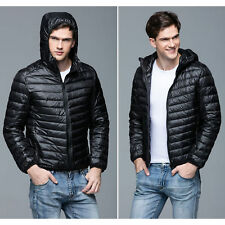 Mens Ultralight Hooded Duck Down Puffer Jacket Coat Warm Outwear Jackets