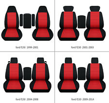 Ford f150 1999-2014 cotton car seat covers black-red, select  seat style
