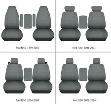 Ford f150 1999-2014 cotton car seat covers steel gray , select  seat style
