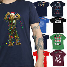 Star Wars Christmas T-Shirt Mens Official Merchandise