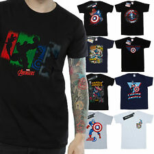Captain America T-Shirt Mens Official Marvel Merchandise