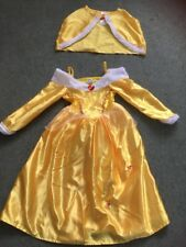 Disney Princess Belle Dress Costume Age 5-6 Years Beauty And The Beast