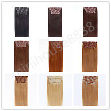 """Full Head 18"""" Indian Remy Human Hair Clip In Extensions 8pcs & 120g, 15 colors"""