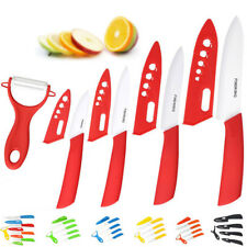 """Housewife Ceramic Knife Set Tools 3""""4""""5""""6"""" Knives+Peeler Kitchen Cooking Knife"""