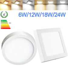 Surface Mounted LED Panel Light Round Square Ceiling Downlight Wall Lamp 6-24W