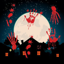 1PC Red Scary Removable Horrible Feetprints Glass Wall Decals for Haunted Houses