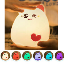 Stress Reliever RGB LED Lamp Rechargeable Infant Toddler Kids Toys Night Light
