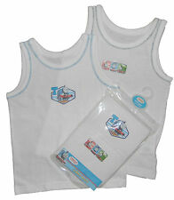 Boys Thomas The Tank Engine Two Pack Vests 18-24 Months Up to 4-5 Years