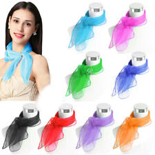 Fashion Women Fancy Chiffon Wrap Hair Head Neck Tie Candy Color Neck Scarf Gift