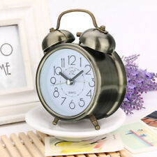 Traditional Alarm Clock Silent Double Bell Snooze Desk Classic Movement Bedroom