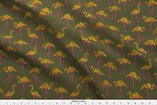 Summer Tropical Shimmering Metallic Gold Fabric Printed by Spoonflower BTY