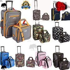 Carry On Travel Luggage Bag With Wheel Rolling Set 2 Piece Suitcase 45 COLORS