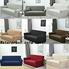 1/2/3/4 Seater Stretch Sofa Slipcover Couch Cover Waterproof Furniture Protector