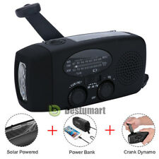 Emergency Solar Hand Crank Dynamo AM/FM/WB Weather Radio LED Torch Charger Bank
