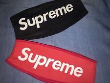 ORIGINAL SUPREME  Headband FLEECE Black or Red Color NEW WITH TAG US Seller