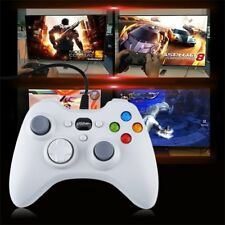 White Wired Gamepad USB Port Controller Joystick Gaming ta
