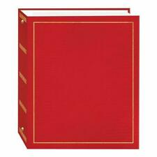 Magnetic Self-Stick 3-Ring Photo Album 100 Pages (50 Sheets) Red Pioneer Photo