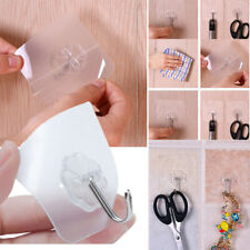 Transparent Suction Cup Sucker Wall Hooks Hanger For Kitchen Bathroom Wall Hang