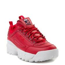 NEW Womens Fila Disruptor II Athletic Shoe RED 2