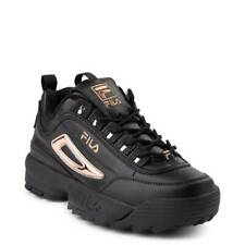 Womens Fila Disruptor II Black Rose Gold Athletic Shoe NEW 2