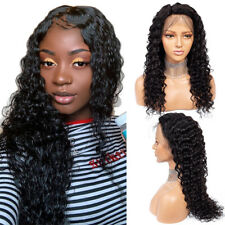 Lace Front Wigs Brazilian Virgin Human Hair Water Wave Pre Plucked Baby Hair