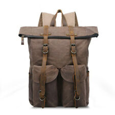 Mens Retro Canvas Backpack Vintage Casual Travel Rucksack School Business Bags