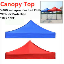 420D 10x10ft Canopy Top Replacement Patio Gazebo Outdoor Sunshade Tent Cover