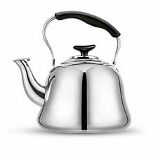 Tea Kettle Stovetop Teapot Stainless Steel Hot Water Kettle Whistling Mirror 2L
