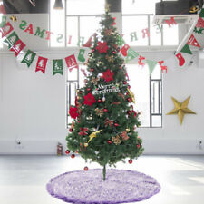 70cm/120cm Christmas Tree Plush Skirt Base Stand Apron Mat Cover Home Decoration