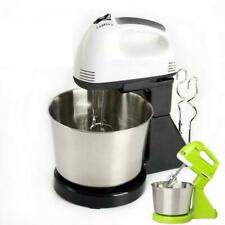 7 Speed Electric Food Stand Hand Mixer Bowl Cake Dough Hook Whisk Beater N3F8D
