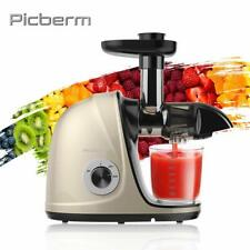 Juicer Machine, Picberm Slow Masticating Juicer for Nutrients Preservation, Easy