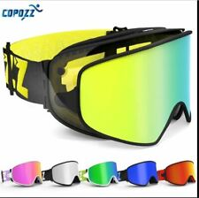 COPOZZ Ski Goggles 2in1 with Magnetic Dual use Lens for Night Skiing Anti fog