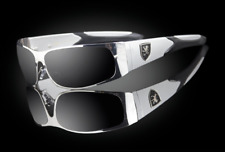 "Design Luxury 100% UV Men's Exotic Wraparound Sunglasses ""Veyron"""