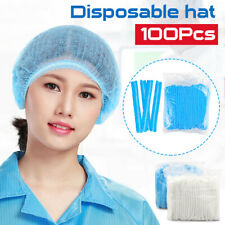 100PCS Disposable Non Woven Bouffant Net Cap Hat Hair Dustproof Industry Medical