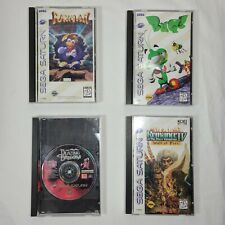 Sega Saturn Video Games: RAYMAN, ROMANCE IV Wall of Fire, BLAZING DRAGONS, BUG!