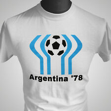 Argentina 78 Football Soccer Retro T Shirt FIFA World Cup 1978 Maradona Vintage