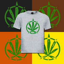 5 Big Marijuana Leaf T-Shirt marajuana pot cannabis lot
