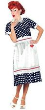 Licensed I Love Lucy Polka Dot Adult Costume 1950s Style Dress