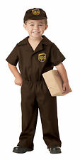 Boy Toddler UPS Delivery Guy Halloween Costume Outfit