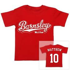 BARNSLEY Football Personalised Boys/Girls Cotton T-Shirt