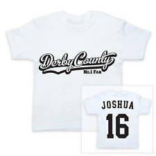 DERBY COUNTY Football Personalised Boys/Girls T-Shirt