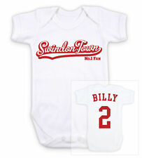 SWINDON TOWN Football Personalised Baby Bodysuit Vest