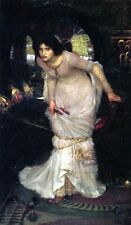 Waterhouse The Lady of Shalott -Stretched Giclee Canvas