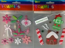 DARICE Foamies 3D Assorted CHRISTMAS Shapes 3 Choices