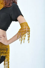 New Belly Dance Costume One Pair Arm Bracelet wt Bells Elastic 2 colors