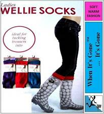 MENS/LADIES/WOMENS SOFT WELLINGTON BOOT WELLY WELLIE SOCKS Rain/Winter/Outdoor